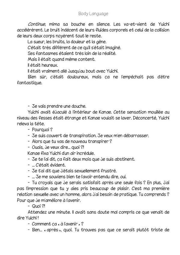 Body language (romant Yaoi-hard) n.3