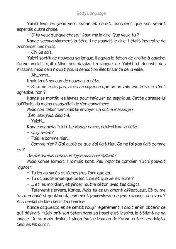 Body language (romant Yaoi-hard) n.5