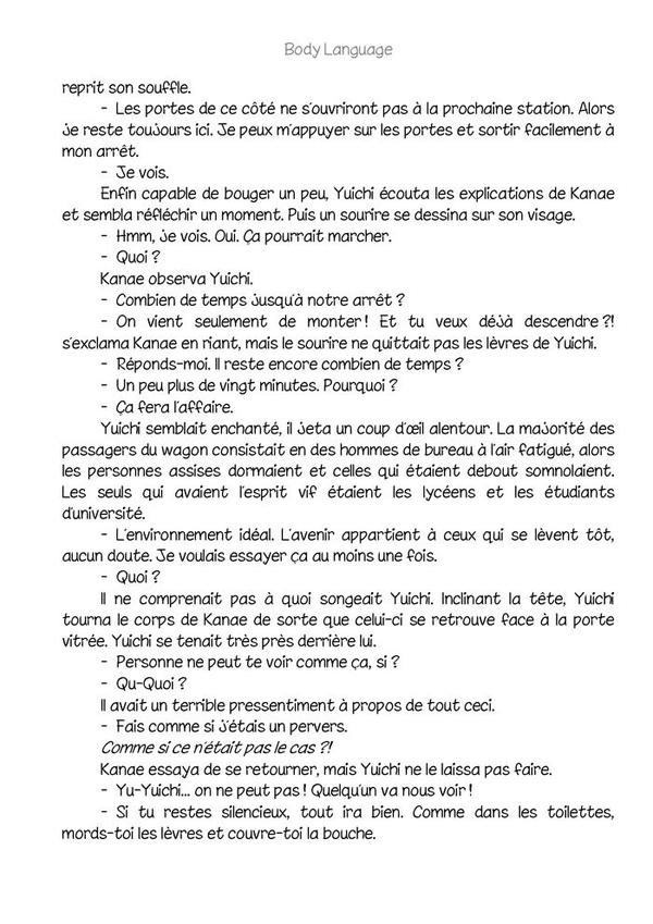 Body language (romant Yaoi-hard) n.9