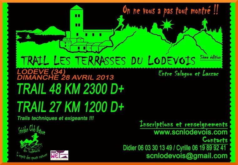 TRAIL LES TERRASSES DU LODEVOIS 2013 , 27 km dimanche 28 avril 2013