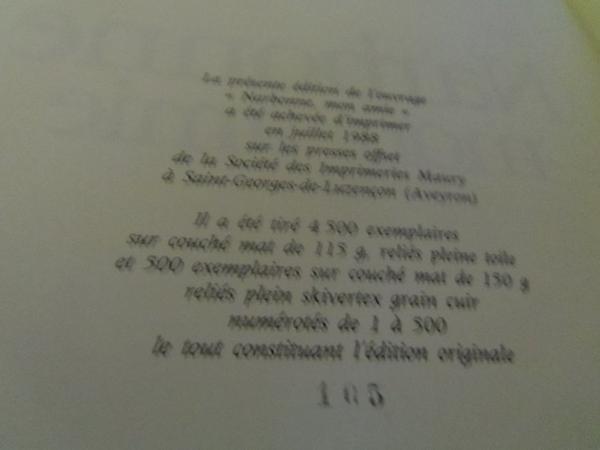 Au plus offrant et solidaire - livre Narbonne Mon Amie