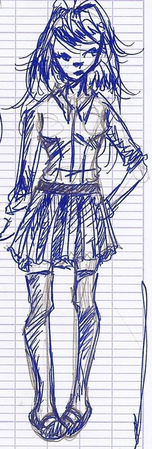 Dessins in blue pour le Mercredi