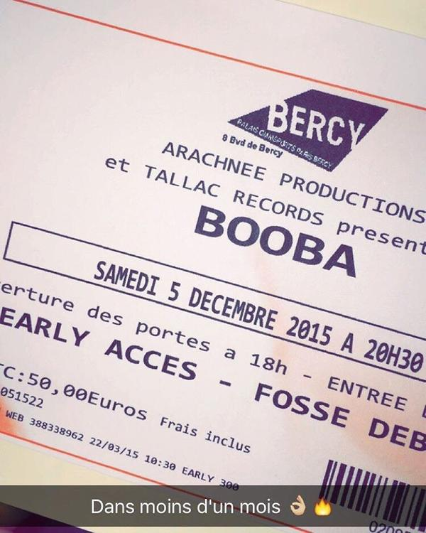 Booba Bercy, 05 Décembre ✌