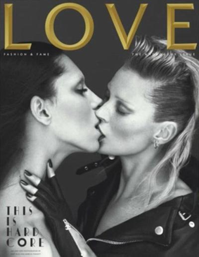 Kate Moss kissing...