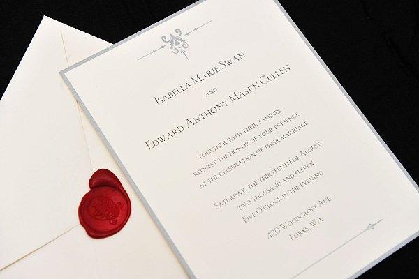 Twilight 4 breaking dawn les invitations du mariage