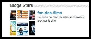 Fan-des-films élu Blog star et Blog source sur le Cinéma :)