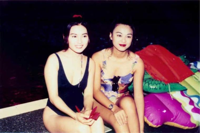 Loletta Lee et Cécilia yiu en maillot pendant une émission Tv