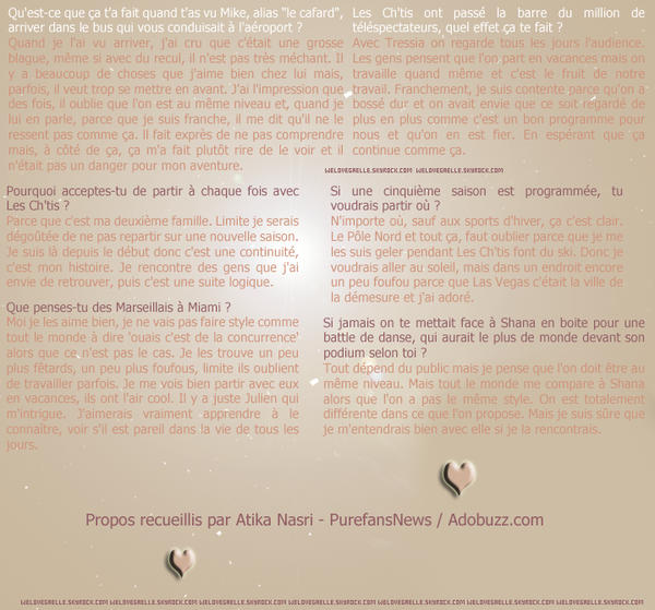 ► Interview de Gaelle pour Adobuzz.com . ♥
