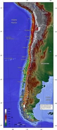 Le Chili, géographiquement parlant.