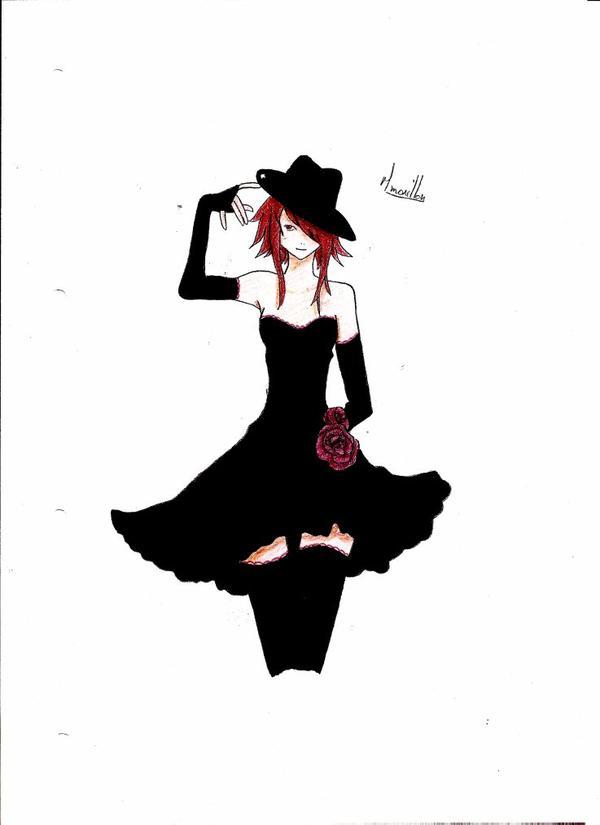 Dessin 62: La danseuse en noir.