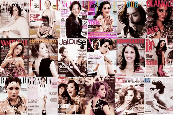 ••MARION EN COUVERTURE Marion fait la Une des magazines...