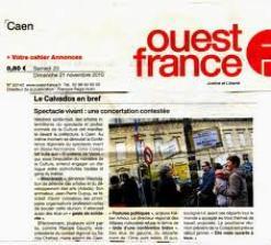 Mouvement des syndicats d'Ouest-France, en solidarité avec Paris-Normandie