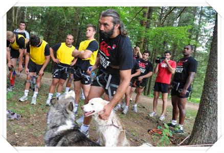 Sébastien Chabal et la cani-rando!