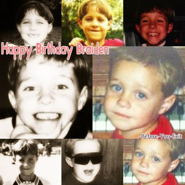 Aujourd'hui c'est l'anniversaire de Braiden, il fête ses 19 ans.Happy Birthday !