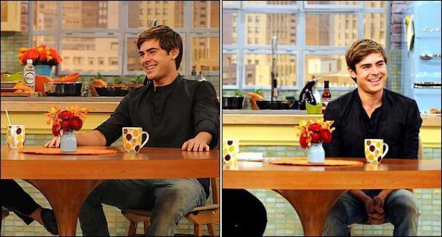 Photos du rachel ray show le 19/04/2012 à New York,Zac en coulisse et sur le plateau c'était la première fois qu'il y été invité