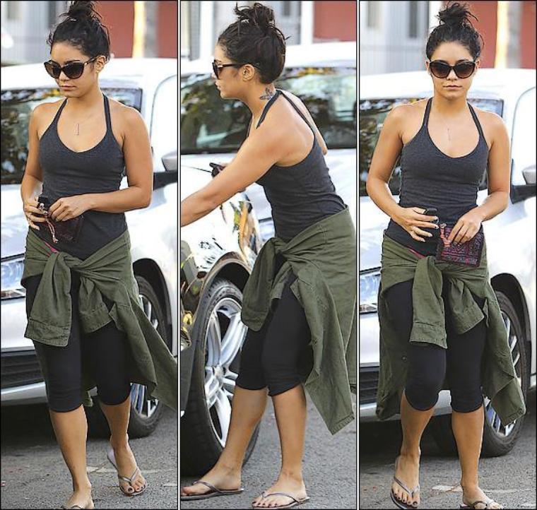 Vanessa est de retour à L.A la preuve nous avons les premières photos d'elle quittant sa séance de YOGA le 8/09/2012