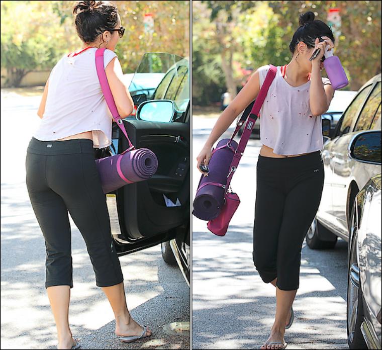 Vanessa quittant son cours de gym quotidien le 16/09/2012