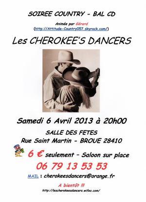 LES CHEROKEE'S DANCERS - BAL COUNTRY (C-D)
