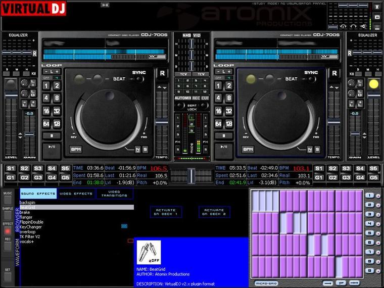 l'ecran de mon Pc sur virtuel DJ