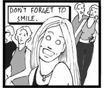 sourire sa veut dire quoi ?????