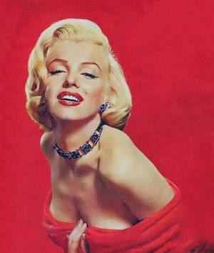 """1953 / by Frank POWOLNY... Portraits publicitaires pour """"Gentlemen prefer blondes""""."""