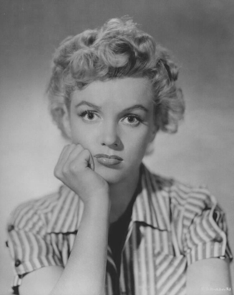 """1952 / Portraits publicitaires pour """"Clash by night""""."""