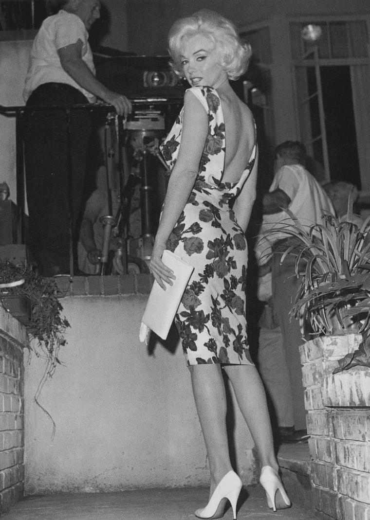"1962 / Marilyn lors du tournage de ""Something's got to give""."