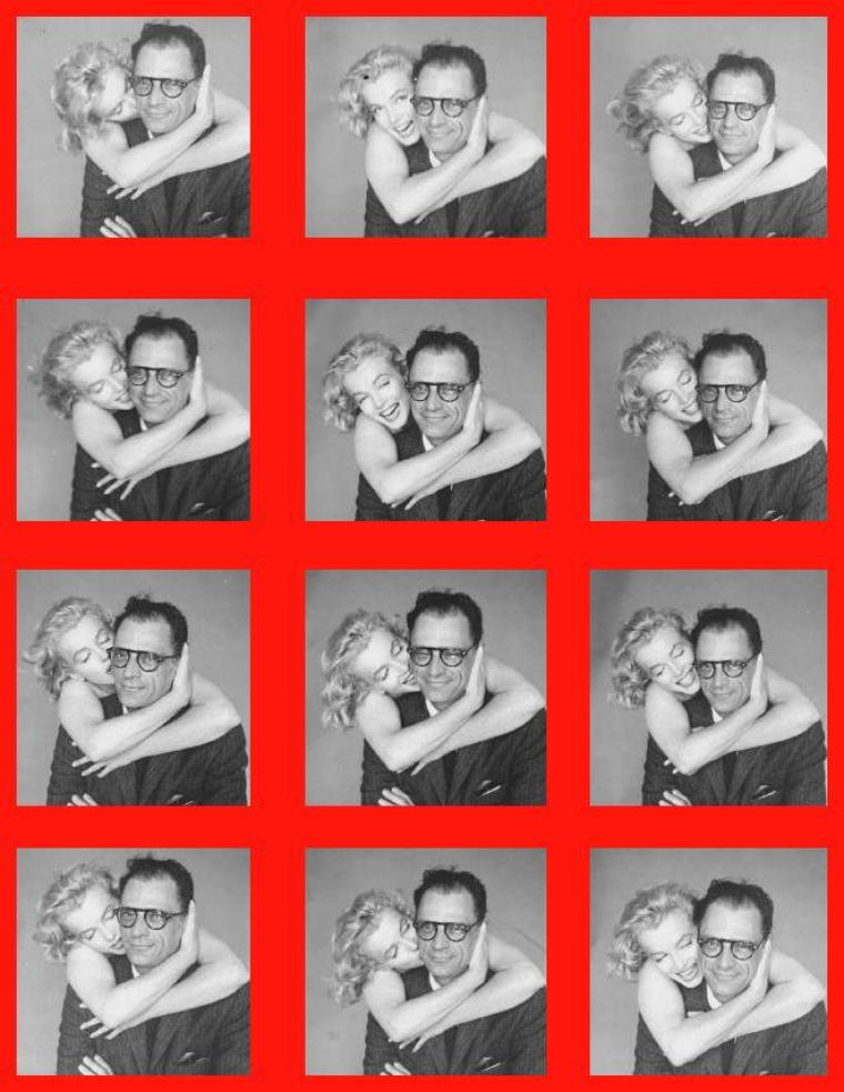 1957 / Marilyn et Arthur by Richard AVEDON