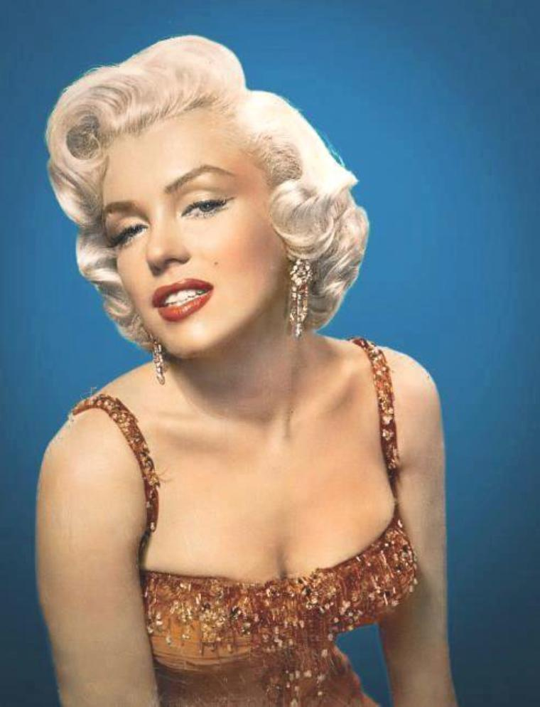 """1953 / Portraits publicitaires signées John FLOREA pour le film """"Gentlemen prefer blondes""""."""