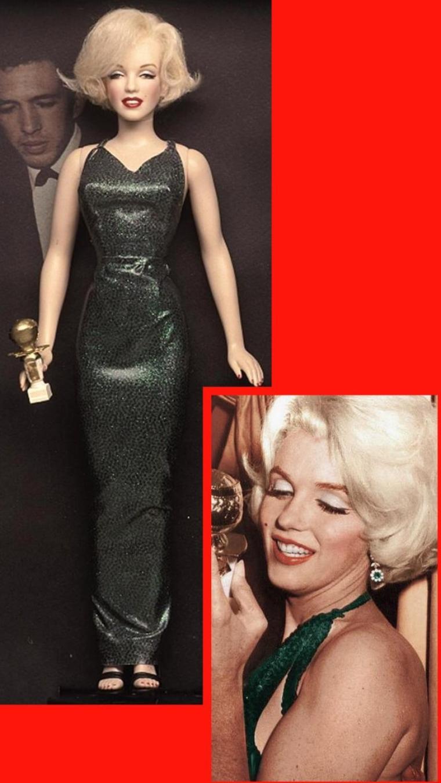 Dolls (part 1) / PAGE SPECIALE sur les poupées Marilyn (chaque poupée est unique et faite exclusivement sur demande), réalisées par l'artiste Kim GOODWIN, qui créé lui même les vêtements, coiffures et autres maquillages... DU GRAND ART ! (chaque poupée représente un moment, un évènement ou une scène précise dans un film de Marilyn). MES MONTAGES PHOTOS...