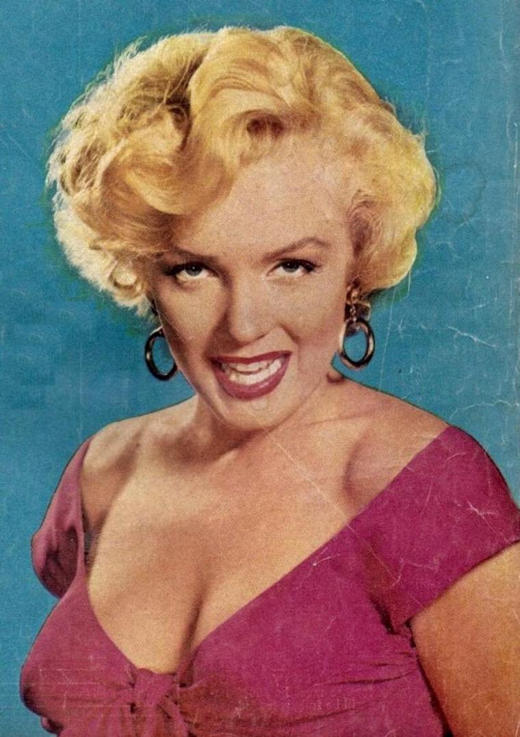 """1952 / Portraits publicitaires pour le film """"Niagara""""."""