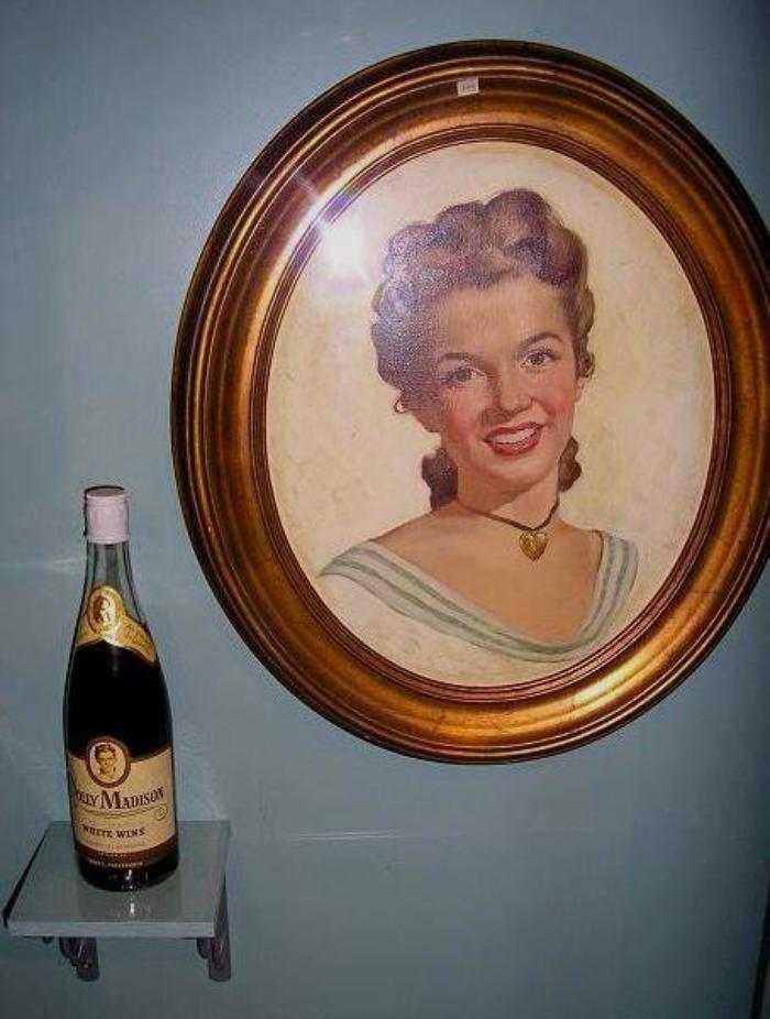 """1947 / Advertising, pour une cuvée de vin """"Dolly Madison""""."""