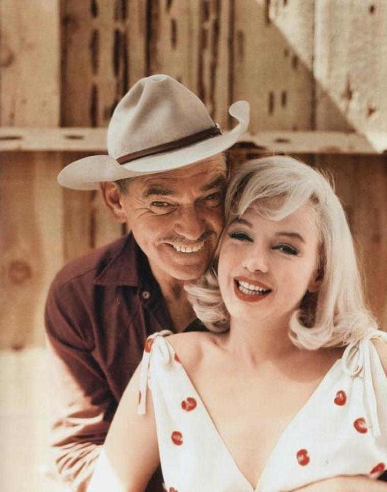 """1960 / Les rares de Marilyn dans le film ou lors du tournage de """"The misfits"""". (certaines photos signées Eve ARNOLD ou Erich HARTMANN)."""