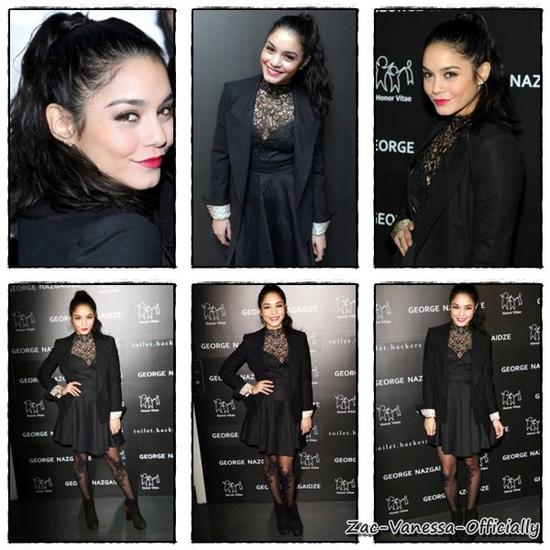Flack-Back :Vanessa Hudgens:17 Décembre 2012 : Charity Meets Fashion Holiday Celebration, New York