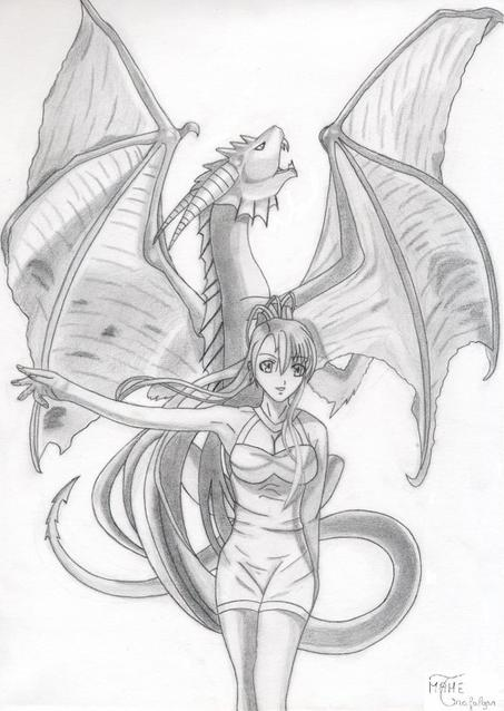 Dessin pour le concours de ApocWolf: Yutsuki la dragonne