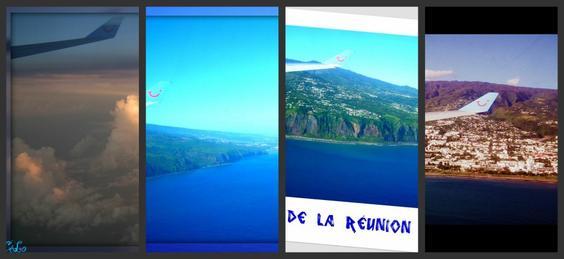 Ile de la Réunion vue du ciel