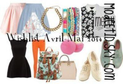 Wishlist avril-mai 2014