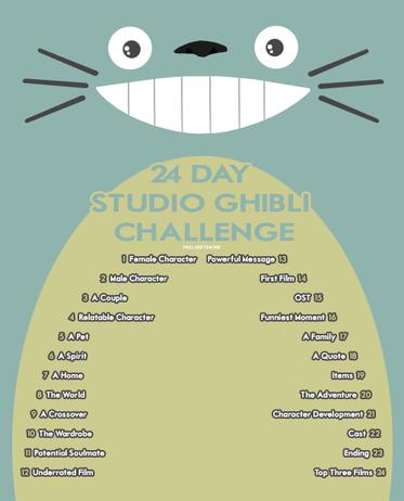 24 Day Studio Ghibli Challenge !
