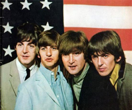 Les Beatles & le drapeau américain