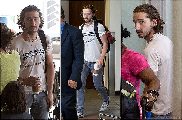 ;06/05/12 : Shia Labeouf a été aperçus à l'aéroport de LAX à Los Angeles, Californie.  :