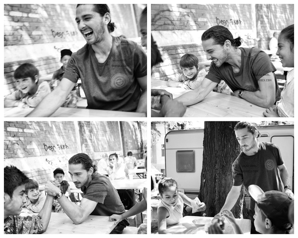 ; 10 Juin 2012 : Shia LaBeouf a passé quelque temps avec des enfants défavorisés à Los Angeles, en Californie. Shia à posté des photos via twitter. Je trouve ses photos superbe, il a l'air vraiment alaise avec les enfants! Vous pouvez visiter le site du projet de Shia  www.thecampaignbook.com :