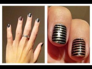 Etape de la manicure rayée
