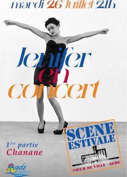 Jenifer en concert le 26 juillet AGDE - Scène flottante