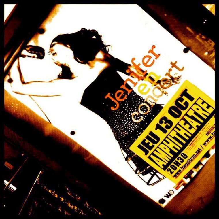 Jen' en concert le 13 Octobre 2011 à Rodez (12) à l'amphitéatre