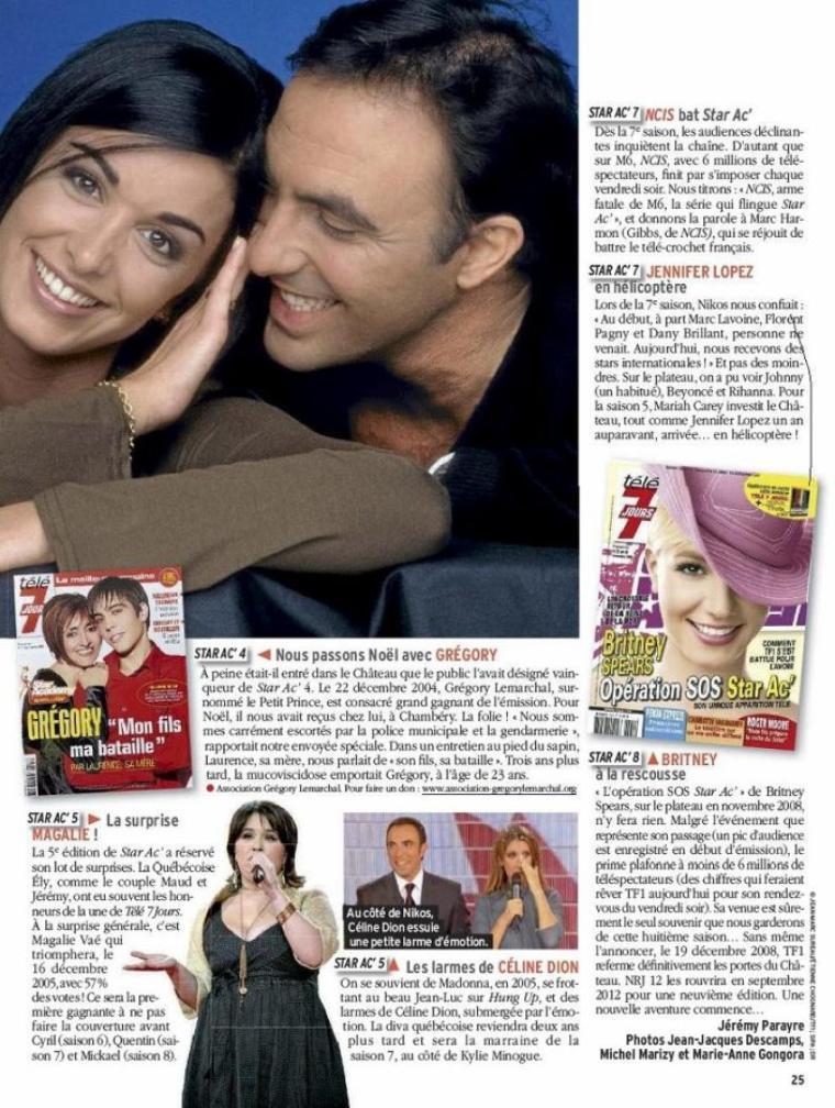 Jen dans le Télé 7 Jours du 02/01/2012 !
