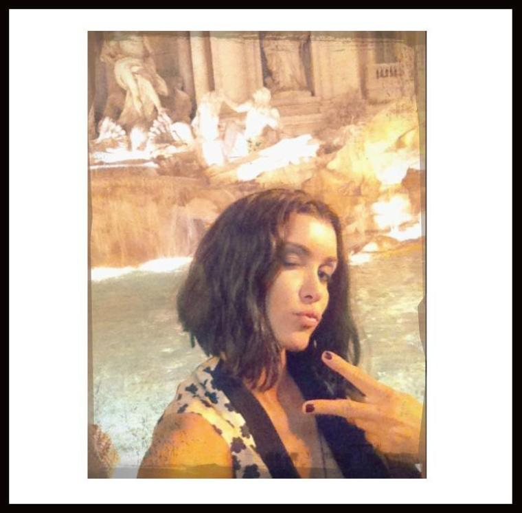 Jenifer, actuellement à Rôme pour l'émission Toute la musique qu'on aime avec Nikos !