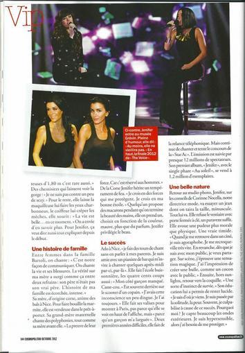 Jenifer en couverture du nouveau Cosmopolitan - 5 septembre 2012 !