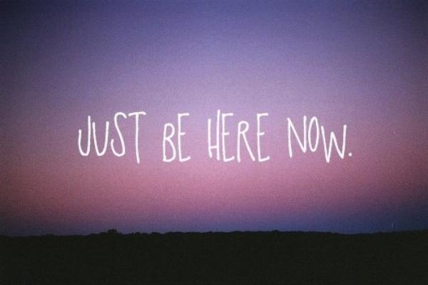 Je veux juste que tu sois là...