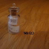Collier - Fiole message (au choix : prénom, date, petit mot...)