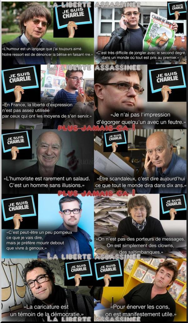 En hommage à CharlieHebdo